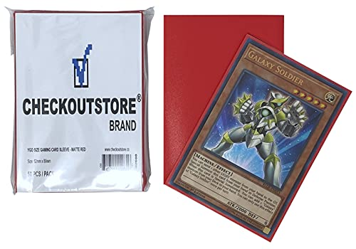 10,000 CheckOutStore Matte Red Protective Sleeves Yu-Gi-Oh, Cardfight Vanguard (62 x 89 mm)