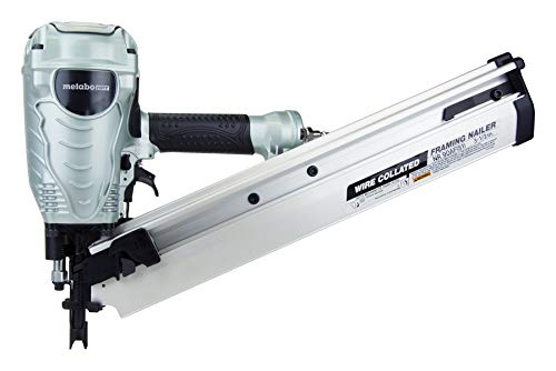 Metabo HPT Framing Nailer, Accepts 28 Degree Wire Weld Collated Framing Nails, 2-Inch to 3-1/2-Inch   NR90AFS1