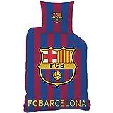 CTI 044657- Funda de edredón para niño con diseño del FC Barcelona, de algodón Azul de 200x 140cm. + Funda de Almohada 63x 63cm.
