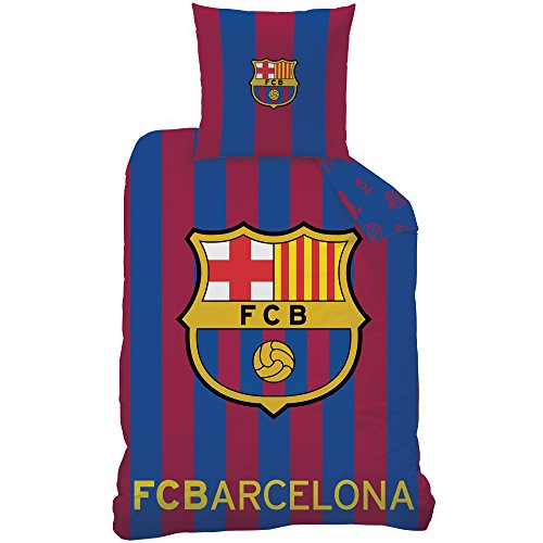 CTI Housse de Couette FC Barcelona Enfant, Coton, Bleu, 200x