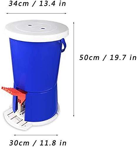 HIGHKAS Mini-Waschmaschine Mini-Pedal-Waschmaschine, tragbare Pedal-Spin-Waschmaschine Nicht-elektrische Waschmaschine Kompaktwaschmaschine für Haushalt oder Wohnung