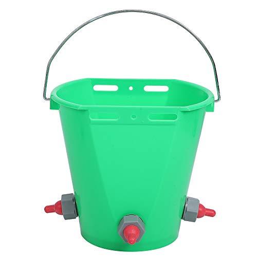 Cerlingwee Cubo de alimentación de Leche para Ganado, 8L de Gran Capacidad, múltiples pezones Cubo de Lactancia de plástico para terneros Cubo(Three Mouths)