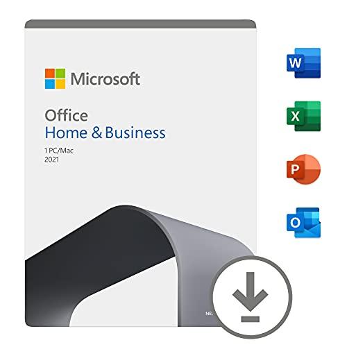 Office Home & Business 2021 | si installa su 1 PC (Windows 10) o Mac |1 licenza commerciale perpetua | Codice di attivazione via email