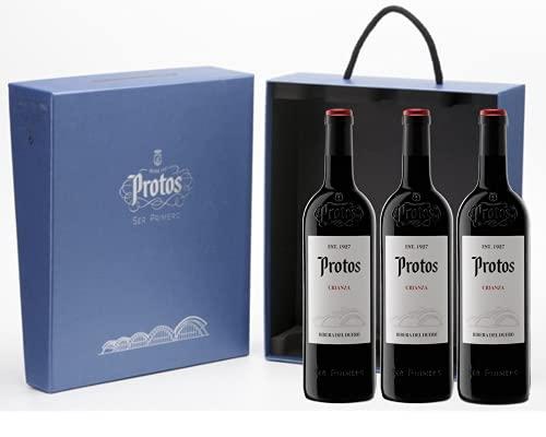 Protos Vino Tinto Crianza, Estuche Vino Tinto 3 botellas, Ribera del Duero 75cl