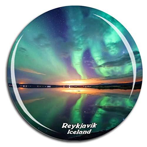 Weekino Parco Nazionale di Thingvellir Reykjavik Islanda Magnete Frigo 3D Cristallo di Vetro Città Turistica Souvenir Collezione Regalo Forte Frigorifero Sticker