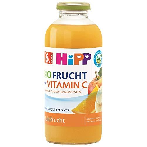 HiPP Bio-Fruchtsaft-Getränke +, Multifrucht mit Vitamin C, 500 ml
