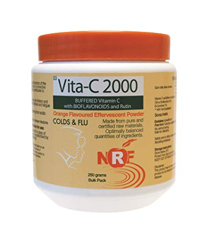 NRF Buffered Vitamin C 2000mg Powder | 250g | Ascorbic Acid | Non-GMO | Suitable for Vegans