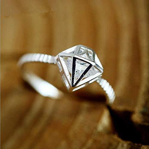 NIUBKLAS Clásico Popular 925 Joyería de Plata esterlina Temperamento Corona Cristal Tipo de Diamante Anillos de Apertura de Personalidad