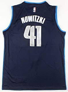 Dirk Nowitzki Autographed Signed Dallas Mavericks Nike Jersey JSA Coa Nba Champion 2011