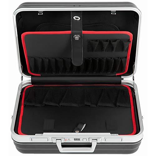 newpo Werkzeugkoffer leer | ABS-Kunststoff | Zahlenschloss | Schultergurt | Werkzeugkasten Werkzeugkiste Koffer Kasten