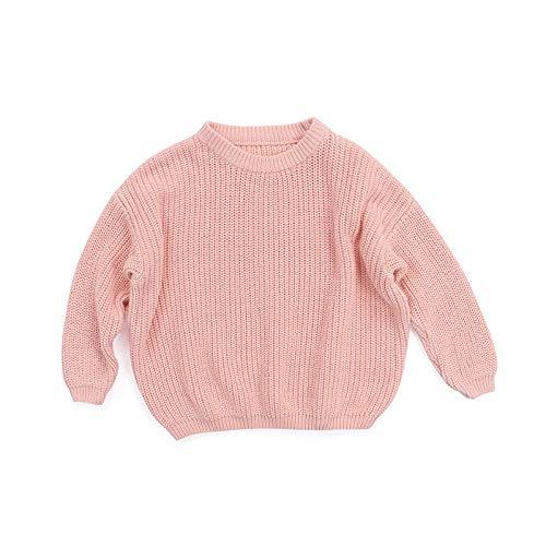 HWTOP Pullover Neugeborene Kinder Baby Mädchen Strickpullover Langarm Pulli Langarmshirts Knit Sweater Tops, Rosa, 3-4 Jahre