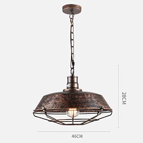 Plafond Lamp Plafond Licht, Kroonluchter, Industriële Kroonluchter Iron Kroonluchter Spotlamp Bo Ontwerp Iron Netwerk Vintage Coffee Bar Kroonluchter Restaurant Lamp Roest Kleur