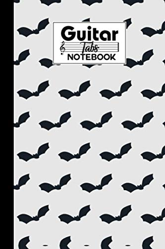 Guitar Tab Notebook: Premium Bat Cover Guitar Tab Notebook, Music Paper Notebook, Blank Guitar Tablature Music Note, 120 Pages - Size 6' x 9'