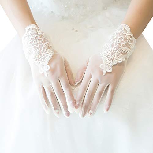 caralin Guarda-chuva vazado de renda para decoração de casamento, adereços para fotos com cabo longo e rosa, absorvente de sombra de renda branca