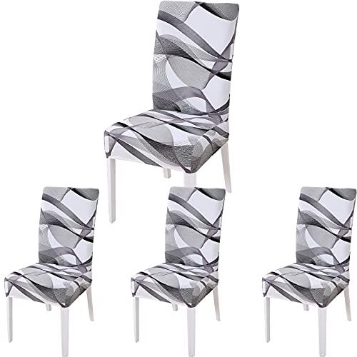 sedie da cucina moderne 6 pezzi KINBO Coprisedie con Schienale