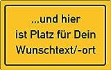 KaiserstuhlCard Magnete Magnetschild Ortsschild Deutschland, auch Frankreich, Schweiz, Österreich, Italien, Niederlande, Kühlschrank Kühlschrankmagnet Schild Wunschtext
