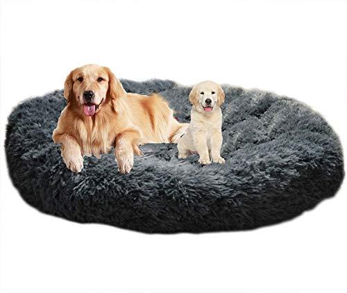 Lit Apaisant Comfy pour Chien Grande Taille,Puppy Love antidérapant Paniers pour Chien Lavable,Panier Chien Lit Rond et Doux pour Chat,Coussin Chien XXXLCanapé Moelleux pour Chien