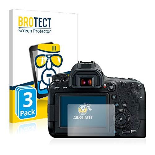 BROTECT Protector Pantalla Cristal Compatible con Canon EOS 6D Mark II Protector Pantalla Vidrio (3 Unidades) Dureza 9H AirGlass