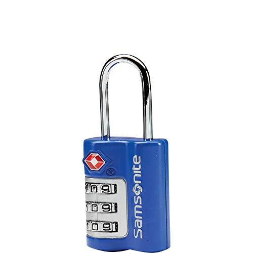 Samsonite Travel Sentry 3 Dial Combination Lock 2 Pack (2 Pack, Blue(86549-1090))