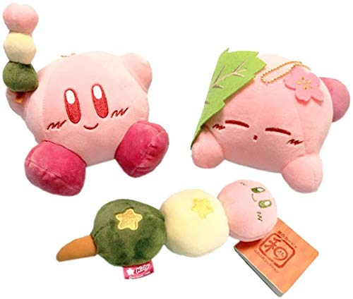 Detazhi Set of 3 Kirby Plush Toys Keychain Soft Dolls Bag Pendant Decoration 15 cm