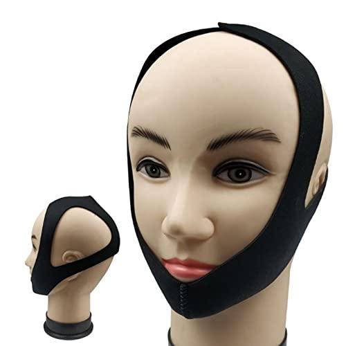 Dispositivo de ronquido Ajustable con Correa de Barbilla Triangular Anti-ronquidos para Hombres y Mujeres, duerma Mejor y más Profundo (Todos los tamaños)