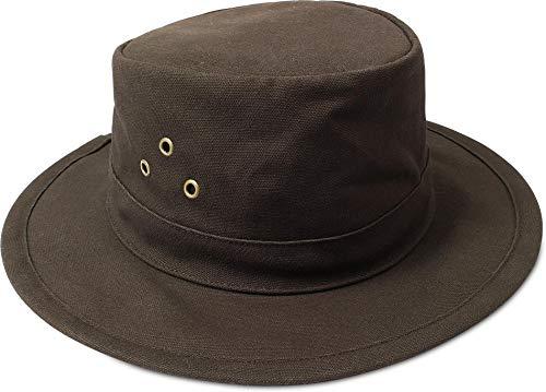 normani Australian Traveller Buschhut Canvas Hat 'Uluru' Farbe Braun Größe XL