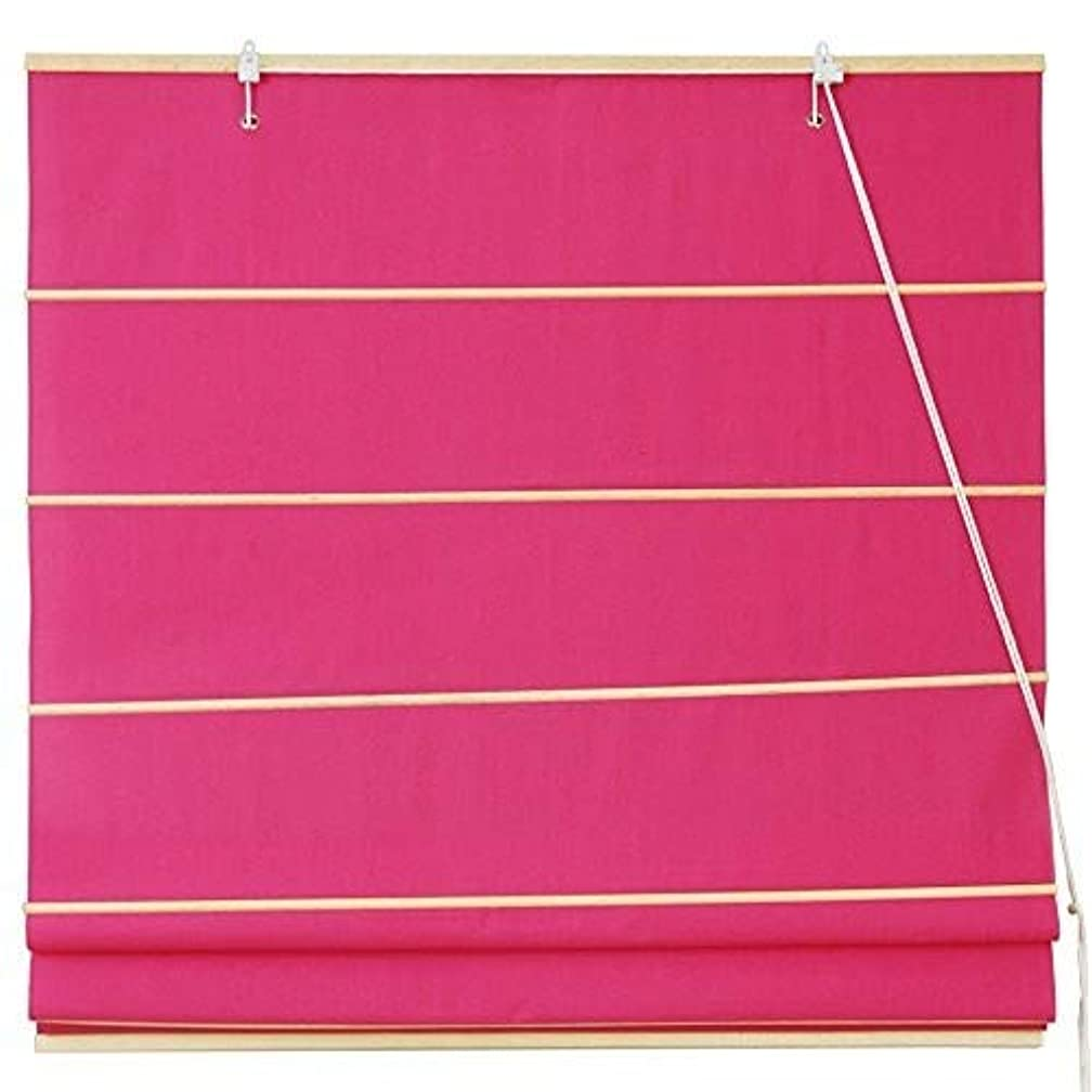 Oriental Furniture Cotton Roman Shades - Pink - (36 in. x 72 in.)
