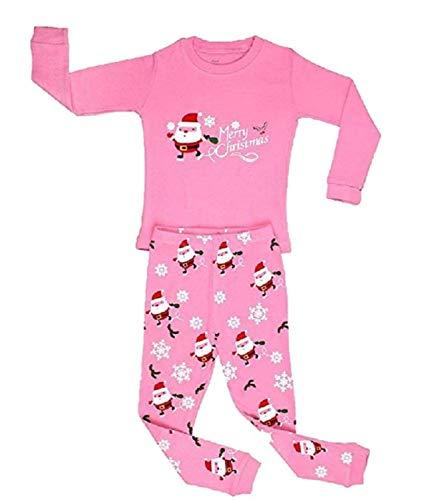 elowel | Pijamas De Niñas | Bebé, Pequeño, Chicas, Ropa De Dormir 2 Piezas | Algodon | Calido | Tamaño: 12...