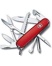 Victorinox Fieldmaster schweizisk arméfickkniv, medium, multiverktyg, 15 funktioner, blad, träsåg, röd