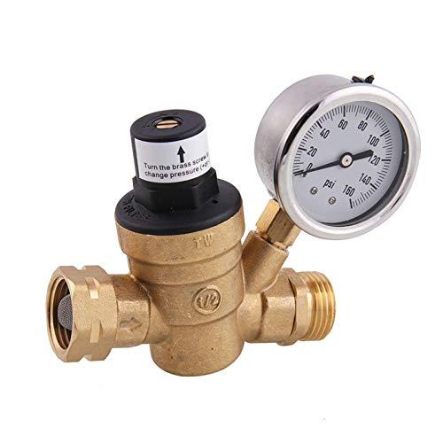 HGFHGD 1 STÜCK Wasserdruckregelventil Messing einstellbares Messing Wasserdruckregelventil Druckminderventil