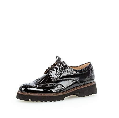 Gabor Femme Chaussures à Lacets, Dame Chaussures d'affaires,Chaussure Basse,Chaussures d'affaires,Chaussures de Sport,Schwarz (Cognac),43 EU / 9 UK