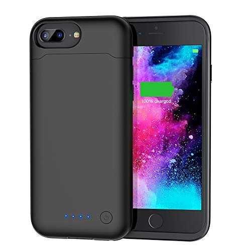 Battery Case for iPhone 8 Plus/7 Plus/6 Plus/6s Plus(5.5''),Upgraded 8500mAh Protective Portable Slim Charging Case Rechargeable Extended Battery Pack for iPhone 8 Plus/7 Plus/6 Plus/6s Plus - Black