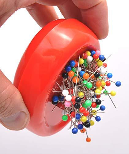 Trimz Magnetic Pin Cushion, Red, 12 x 8 x 3 cm