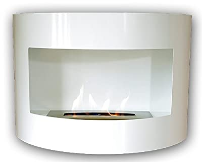 Design Fireplace RIVIERA Deluxe White Bio Ethanol Gel Fire Place
