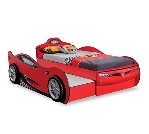 Cilek Racecup Autobett mit Zusatzbett Matratze ohne Matratze