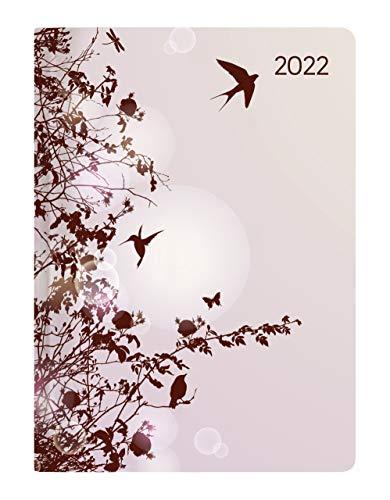 Alpha Edition - Agenda Giornaliera Style 2022, 10,7x15,2 cm, Hummingbird Tree, 352 pagine