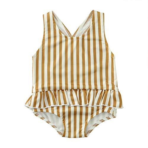 Infant Baby Girls One Piece Swimsuit Toddler Leopard Print Ruffle Backless Bathing Suit Swimwear Tankini Beachwear
