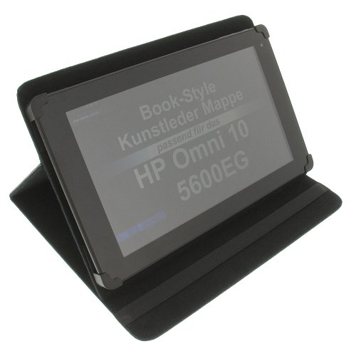 foto-kontor Tasche für HP Omni 10 5600EG Book Style Schutz Hülle Buch schwarz