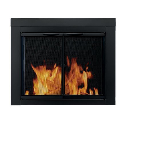Review Of Pleasant Hearth AN-1012 Alpine Fireplace Glass Door, Black, Large