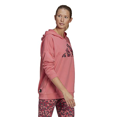 adidas,Womens,All Over Print OS Hoodie,Hazy Rose,Small