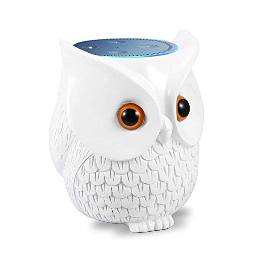 Hihoddy Owl Statue Crafted Guard Station,Perfect Accessory for Amazon Echo Dot 2nd and 1st generation Speaker - BFF For Alexa - Nice Decoration and Success Gift