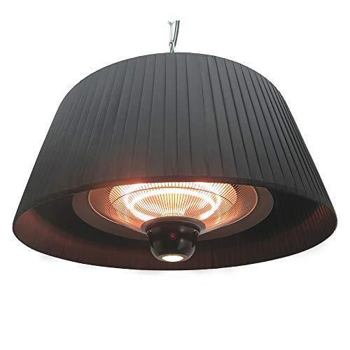 FAVEX - Chauffage Sirmione Suspendu Noir - Electrique - Extérieur - 8 m² - 74 x 74 x 33,5 cm