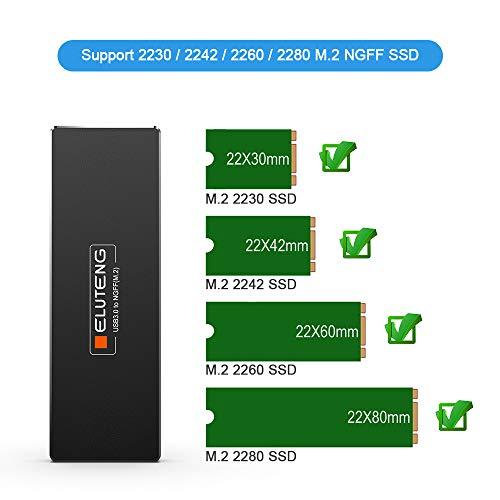 ELUTENG M2 to USB 3.0 NGFF M.2 Carcasa Adapter UASP SATA III ...