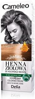 Cameleo Herbal Henna para colorear crema marrón 75g Extracto Henna Natural con aceite marroquí