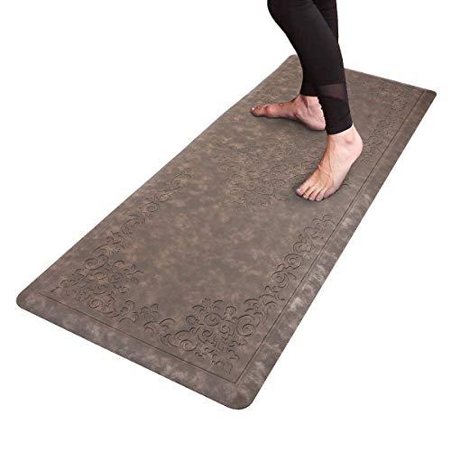 HEBE Kitchen Mat Cushioned Anti-Fatigue Floor Mat Runner Waterproof Non-Slip Standing Mat Ergonomic Comfort Floor Mat Rug Runner for Office,Sink,Laundry,Desk,20'x52'