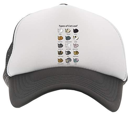 Delavi The Types of Cat Loaf Baseball Trucker Kinder Kappe Schwarz Black Cap