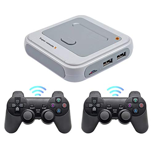 R8 Wireless Retro Game Console, Classic Game Console 4K HDMI TV Output Video Built-in 30000/40000 Classic Game Console with Handheld Games, Family Party Game Equipment Support 3D Games for PS1/PSP