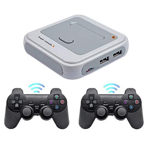 Sarari Mini TV Videospiel-Player, WiFi HDMI Ausgang Retro Konsole X 50 + Emulatoren 30000/40000/50000 + Spiele eingebaut 2.4G Klassische Spielkonsole für PS1/N64/DC