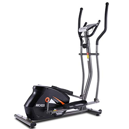 ANCHEER Magnetic Elliptical Cross Trainer Machine for Home Use, Smooth & Quiet, Compact...