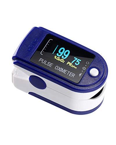 NAKE Fingersättigungs-Sensor für Sauerstoffsättigung und Pulsmesser in verschiedenen Farben mit OLED-Display (NAS24)